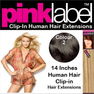 Pink Label Clip in Hair Extensions Colour 2