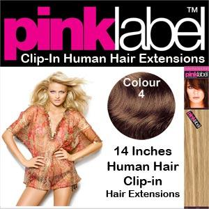 Pink Label Clip in Hair Extensions Colour 4