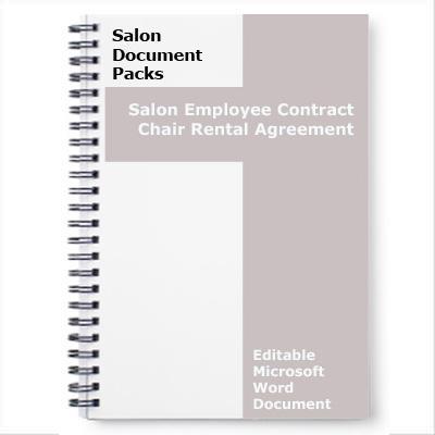 Hairdresser Chair Rental Agreement