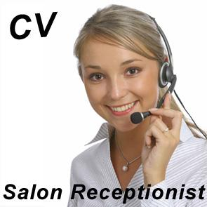 Salon Receptionist CV and Covering Letter