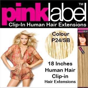 "18"" Clip in Hair Extensions Colour P24/SB"