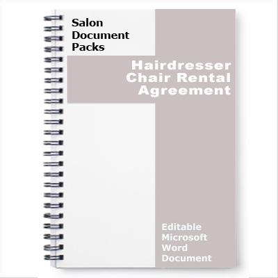 Hairdresser Chair Rental Agreement