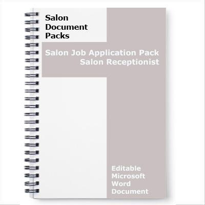salon receptionist job application form