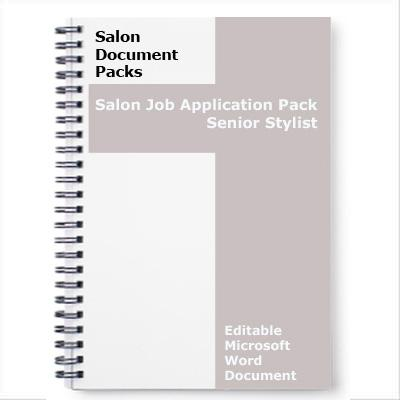 Job Application Pack Senior Stylist Download