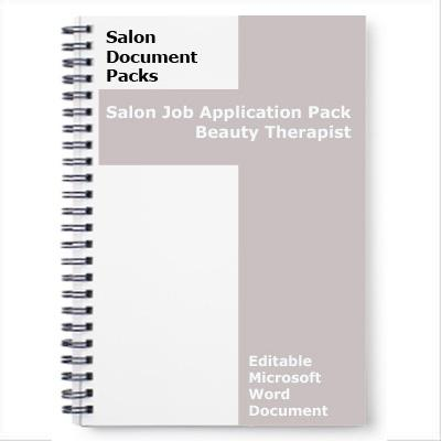 Beauty Therapist Job Application Pack