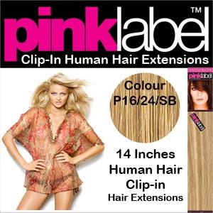 Pink Label Clip in Human Hair Extensions P16/24/SB