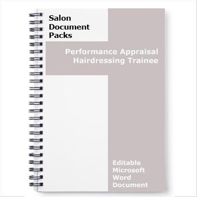 Salon Traineee Performance Appraisal