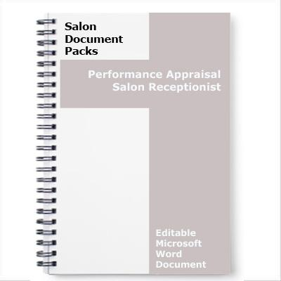 Performance Appraisal Salon Receptionist