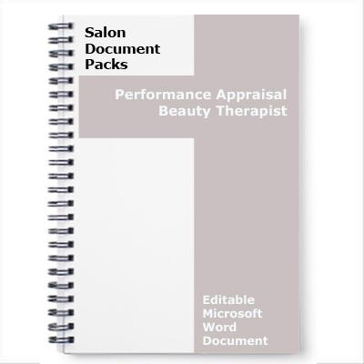 Performance Appraisal Beauty Therapist