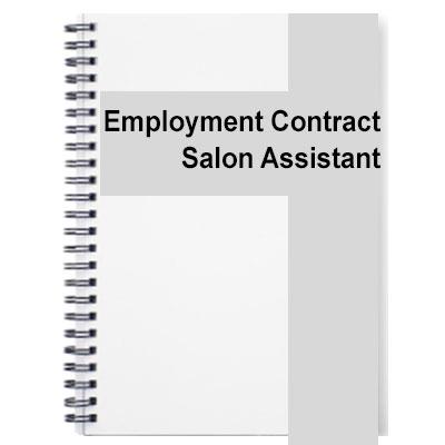 Salon Assistant Contract Of Employment