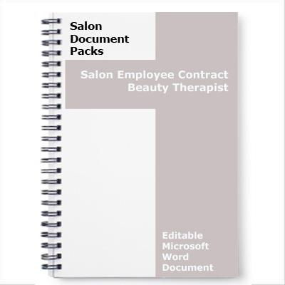 Beauty Thearpist Contract of Employment