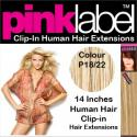 Pink Label 14 Inches Clip In Human Hair Extensions Colour P1822