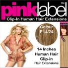 Pink Label Clip in Hair Extensions Colour P14/24