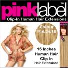 Clip in Human Hair Extensions Colour P16/24/SB