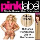 Clip in Human Hair Extensions Colour P22/SB