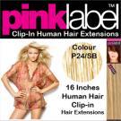 Clip in Human Hair Extensions Colour P24/SB