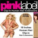 Clip in Human Hair Extensions Colour P27/SB