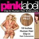 Clip in Human Hair Extensions Colour P4/27