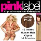 Clip in Human Hair Extensions Colour P4/30