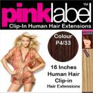 Clip in Human Hair Extensions Colour P4/33