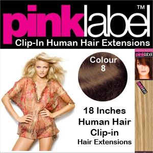 """18"""" Clip in Hair Extensions Colour 8"""