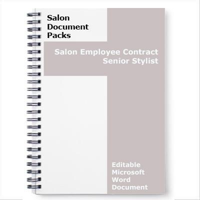 Salon Employee Contract Senior Hairstylist