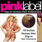 Clip in Human Hair Extensions Colour 12