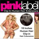 Clip in Human Hair Extensions Colour 1