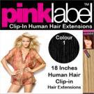 Hairaisers Clip in Hair Extensions Colour 1
